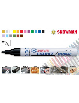 PENNARELLO MARCATORE INDELEBILE A SMALTO SNOWMAN PAINT MARKER