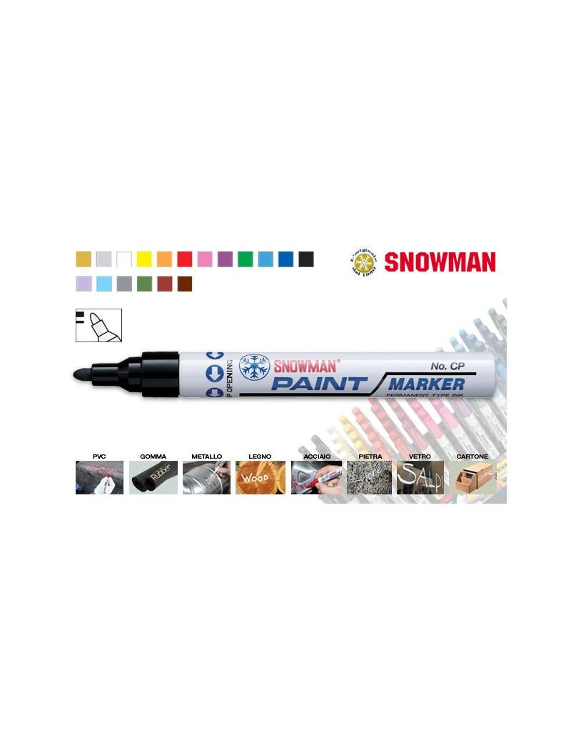 PENNARELLO MARCATORE INDELEBILE A SMALTO SNOWMAN PAINT MARKER