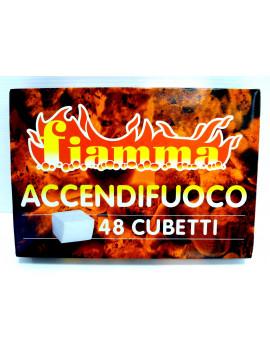 1 CONFEZIONE DA 48 CUBETTI ACCENDIFUOCO FIAMMA PER CAMINO STUFA CASA