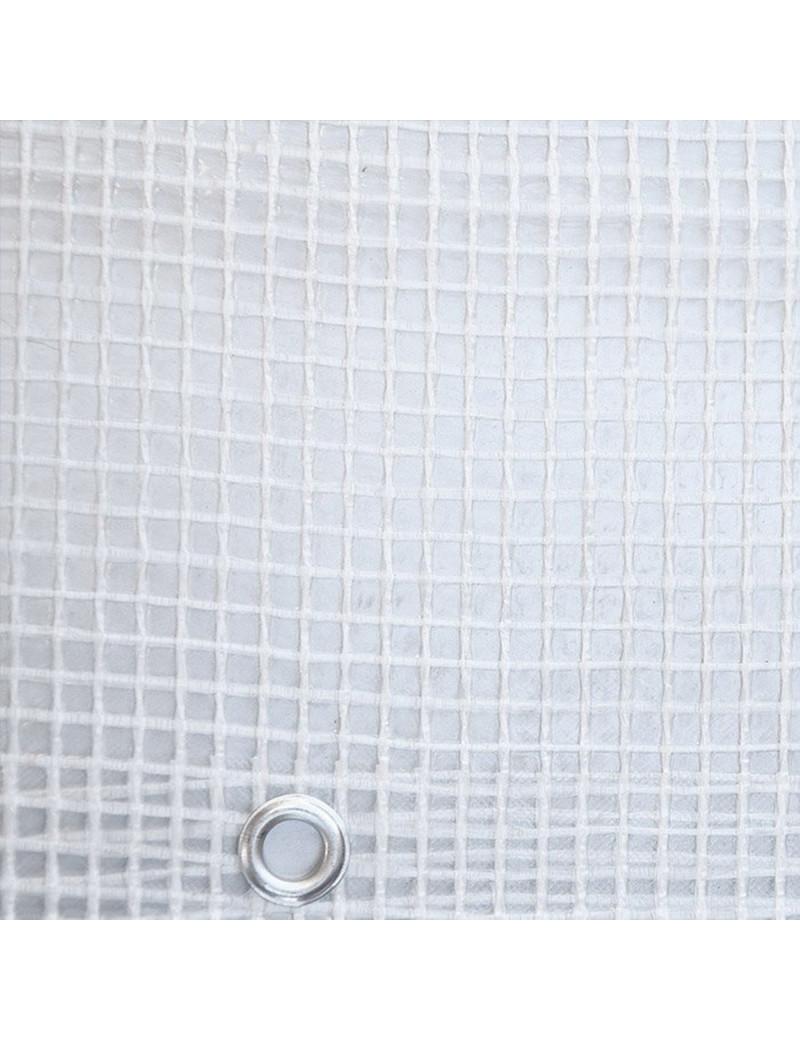 teloni rinforzati Telo Retinato Telo di Protezione con Occhielli Materiale Spesso 5mil per Coperture Stoccaggio Edilizia,3x3ft//1x1m HUYYA Telone Trasparente Impermeabili