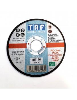 TAF BIT40 - 115X1 PZ.10 - DISCO DA TAGLIO UNIVERSALE