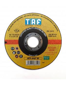 TAF MT9 - 115X1,6 PZ.10 - DISCO DA TAGLIO PROFESSIONALE (INOX) - MADE IN ITALY