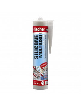 FISCHER 09351 - SAM 280 TR- PZ.25 -SILICONE SIGILLANTE ACETICO TRASPARENTE 280ml