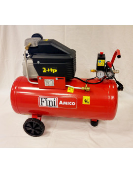 COMPRESSORE ARIA FINI AMICO 50/2400 - Lt.50 - HP2 - BAR 8 - ORIGINALE FINI